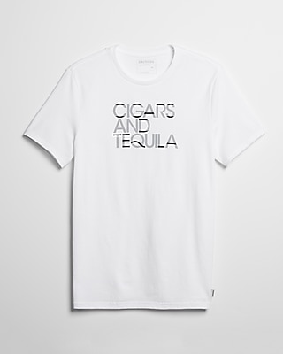 Express Mens Cigars And Tequila Graphic Tee