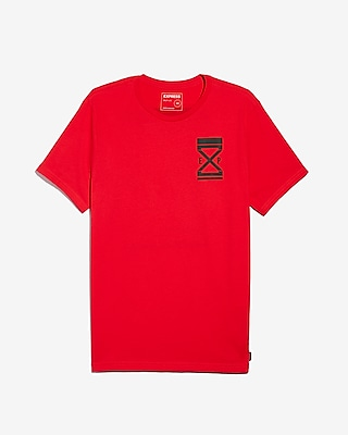Express Mens Big & Tall Exp Logo Crew Neck Graphic Tee Red Men's Xxl Red Xxl 15734853