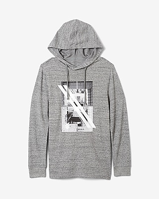 Express Mens Waffle Squares Hoodie