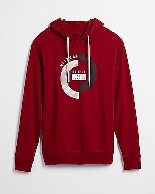 Express Mens There Is No Reward Without Risk Graphic Hoodie