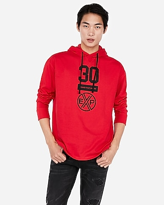 Express Mens Brand That Unites Long Sleeve Graphic Hoodie