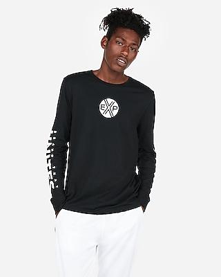 Express Mens Brand That Unites Long Sleeve Graphic Tee Black Men's Xs Black Xs