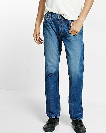 boot leg loose fit jeans