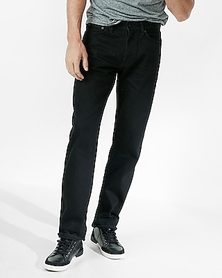 Express Mens Relaxed Black 100% Cotton Jeans