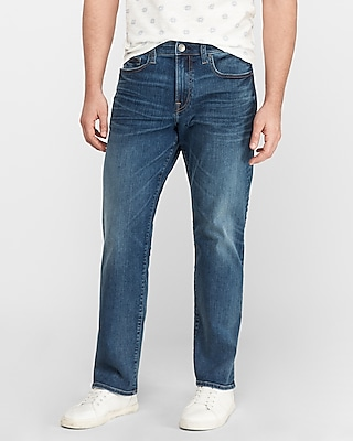Express Relaxed Medium Wash Jeans