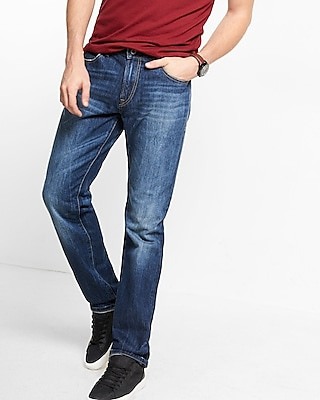 Express Mens Straight Leg Classic Fit Jeans