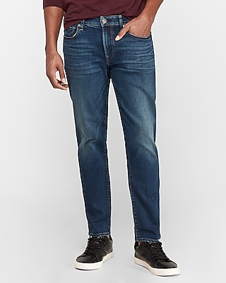 Express Classic Straight Dark Wash Hyper Stretch Jeans