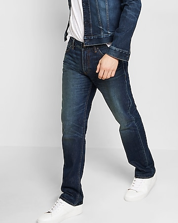 classic fit straight leg jeans