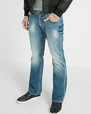 Express Mens Classic Fit Boot Leg Flex Stretch Jeans
