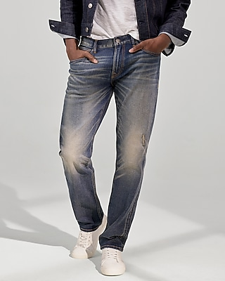 Classic Fit Tapered Leg Performance Stretch Jeans