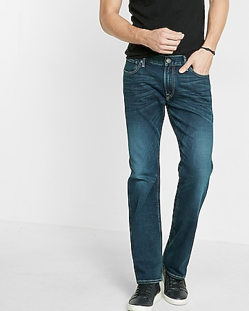 classic fit boot leg cooling jeans