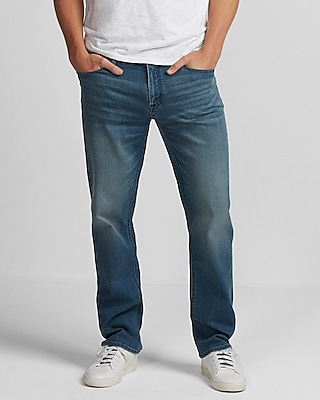 Express Mens Classic Straight Light Wash 365 Comfort Jeans