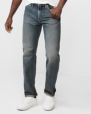 Express Mens Classic Straight Medium Wash Original Soft Cotton Jeans