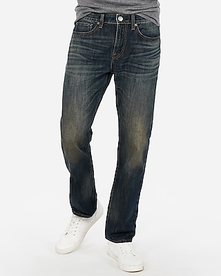 Express Mens Classic Straight Dark Wash Original Jeans