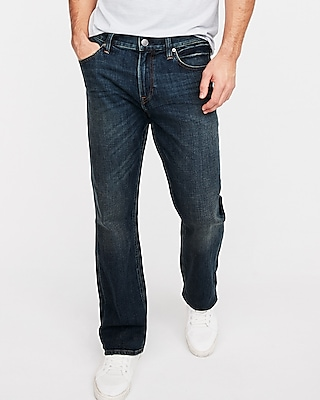 Express Mens Classic Boot Dark Wash Soft Cotton Stretch Jeans