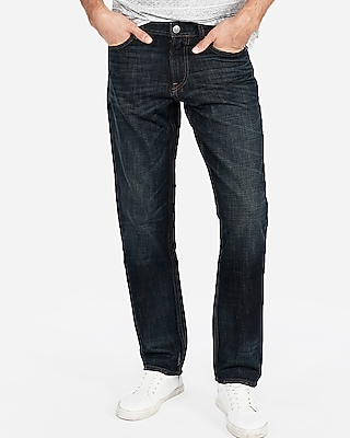 Express Classic Straight Dark Wash Original Jeans