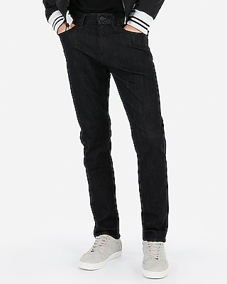 Express Mens Classic Slim Black Wash Stretch Jeans, Men's Size:w28 L32 Black W28 L32