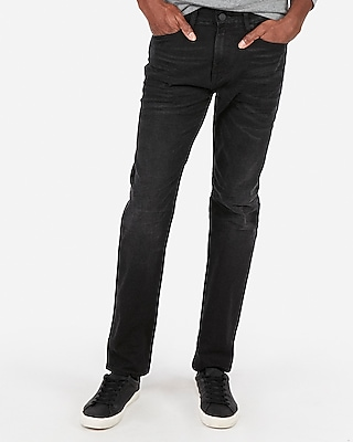 Express Mens Big & Tall Classic Straight Black Wash Stretch+ Jeans, Men's Size:w38 L36 Black W38 L36