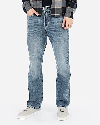Express Mens Classic Boot Light Wash Soft Cotton Stretch+ Jeans, Men's Size:w42 L34 Blue W42 L34