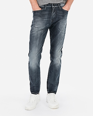 Express Athletic Tapered Slim Dark Wash Hyper Stretch Jeans