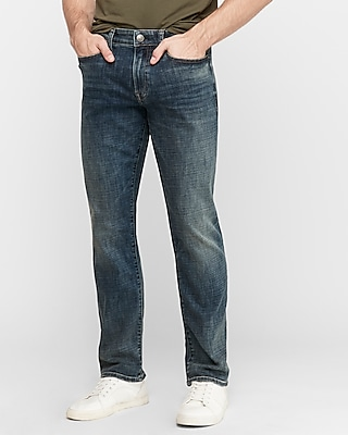 Express Classic Straight Medium Wash Hyper Stretch Jeans