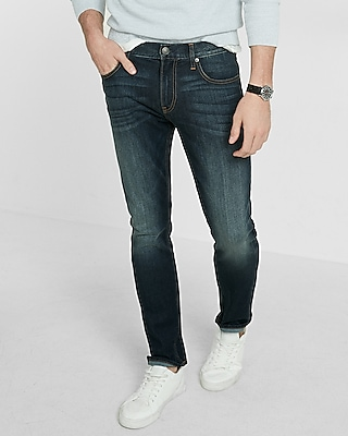 Express Mens Eco-Friendly Slim Leg Slim Fit Stretch Jeans