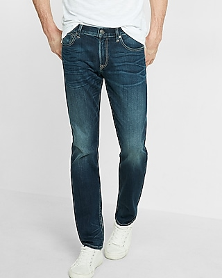 Express Mens Eco-Friendly Slim Fit Straight Leg Stretch Rocco Jeans