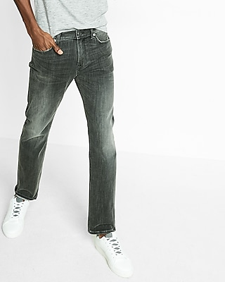 Express Mens Slim Straight Gray Stretch+ Jeans