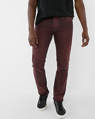 Express Mens Slim Overdyed Stretch Jeans