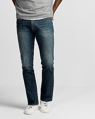 Express Mens Slim Medium Wash Stretch Jeans
