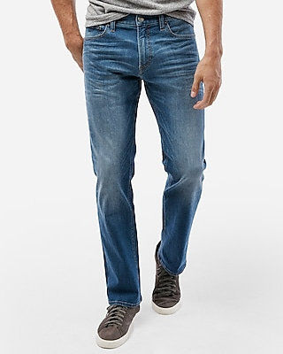 Slim Straight Medium Wash Tough Stretch+ Jeans