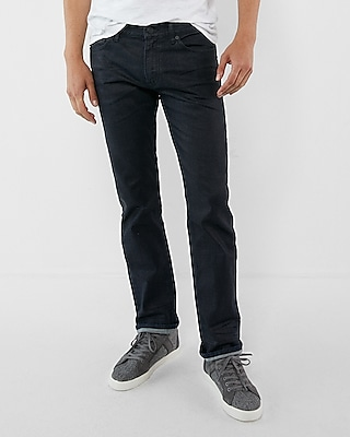 Express Mens Slim Straight Dark Wash Stretch Jeans