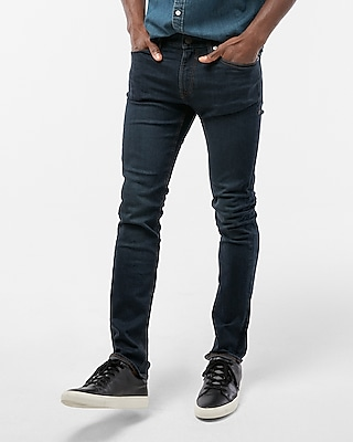 Express Mens Slim Dark Wash Tough Stretch+ Jeans