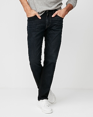 Express Mens Slim Straight Dark Wash 100% Cotton Jeans