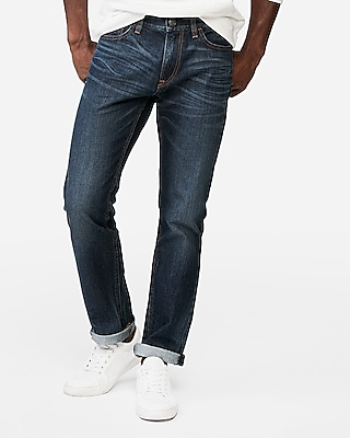 Express Mens Slim Medium Wash 100% Cotton Jeans