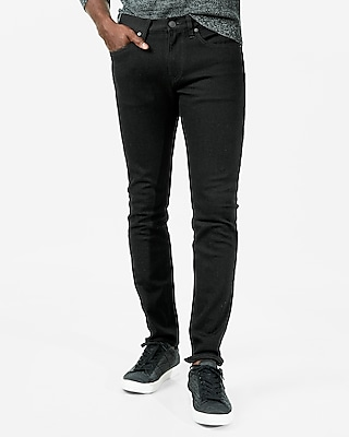Express Mens Express Mens Eco Friendly Sustainable Denim Skinny Black 365 Comfort 4 Way Stretch Jeans