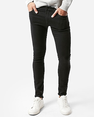 Express Mens Super Skinny Black Stretch+ Jeans