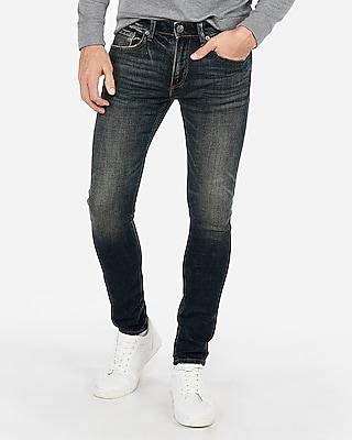 Express Mens Super Skinny Stretch+ Dark Wash Jeans