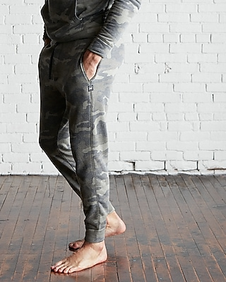 Express Mens Camo Vintage Fleece Jogger Pant