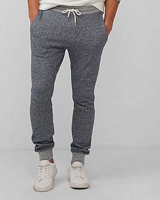 Express Mens Marled Fleece Jogger Pant