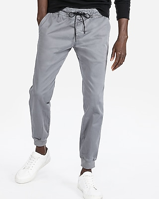 Express Mens Cotton Sateen Jogger Pants