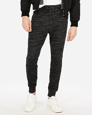 Express Mens Space Dye Ponte Fleece Jogger Pant