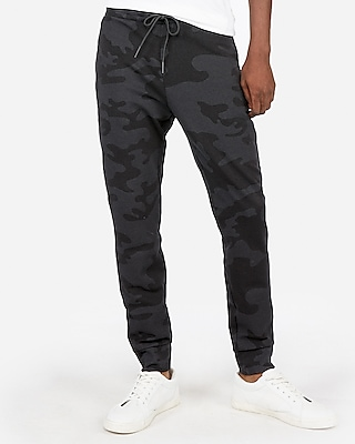 Express Mens Camo Double Knit Jogger Pant
