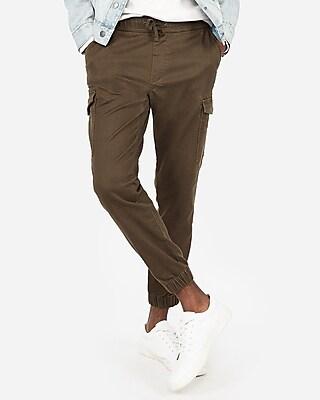 Express Mens Big & Tall Cargo Pocket Jogger Pant Brown Men's Xxl Brown Xxl