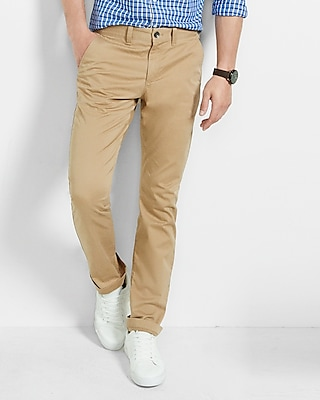 Express Mens Slim Stretch Khaki Chino