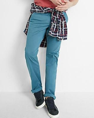 Express Mens Slim Garment Dyed Chino Pant Blue W28 L30