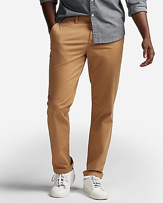 Express Mens Slim Garment Dyed Stretch Chino