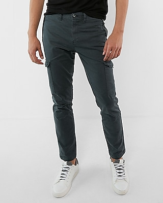 Skinny Garment Dyed Stretch Cargo Pant