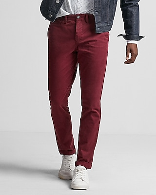 Express Mens Skinny Stretch Garment Dyed Chino
