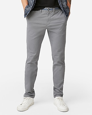 Express Mens Skinny Chambray Trim 365 Comfort Stretch Chino